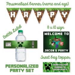minecraft party theme lifes little celebration