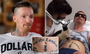 bodyshockers tattoo removal essex man on bodyshockers wants to remove arrow tattoo