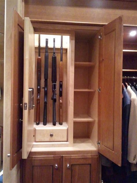 Gun Cabinet In Closet by Stealth Shotgun Rifle Locker Traditional Closet