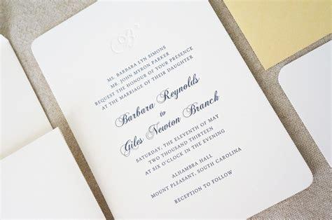 Wedding Invitations Charleston Sc by Monogram Initial Wedding Invitations Wedding Invitation