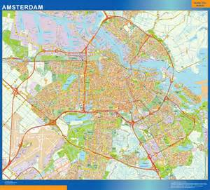 Amsterdam World Map by Mapstore Amsterdam Wall Map Poster Laminated Or Magnetic