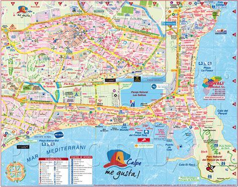 calpe spain map plano de calpe