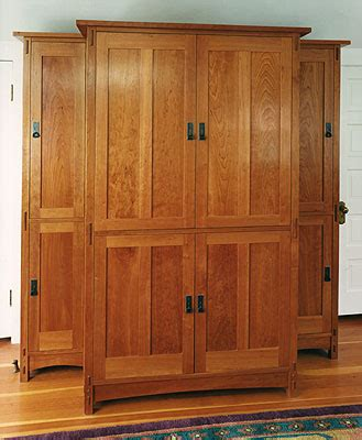 craftsman armoire armoire craftsman style in cherry