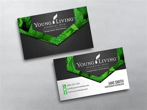 Young Living Business Cards Living Business Card Template