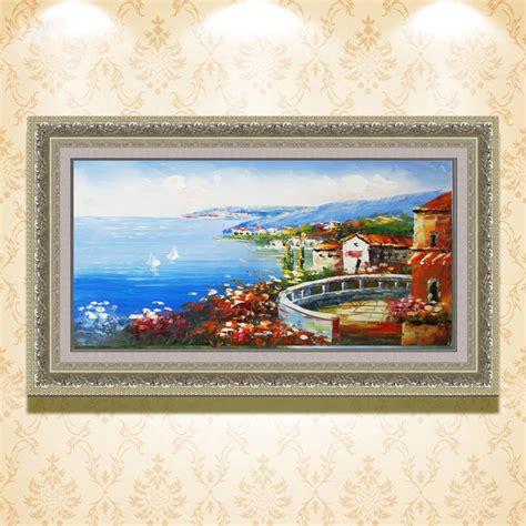 Murah Dekorasi Lukisan Tangan Kanvas Pemandangan Ac534 beli set lot murah grosir set galeri gambar di laut lukisan oleh seniman