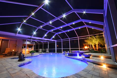 Indoor Pool Design by Nebula Lighting Systems Rail Light System
