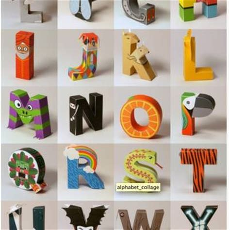 Paper Craft Letters - papercraft alphabet free printables tip junkie