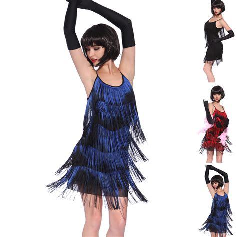 Vintage 1920s gatsby Look Flapper Swing Fringe Cocktail Party Evening Dress   eBay