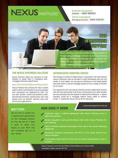 designcrowd brochure elegant playful brochure design for nexus partners by