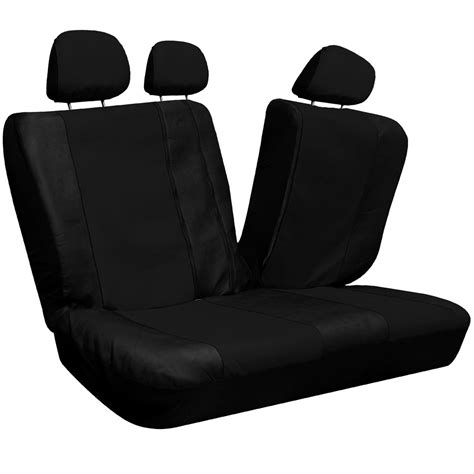 suv bench seat covers 23pc set faux leather black suv seat covers buckets bench wheel head belt pads ebay