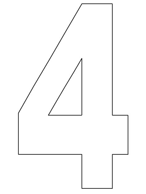 number 4 cake template template birthday number 4 cake cake