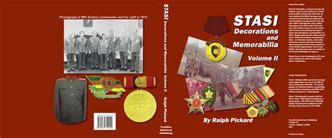 libro stasi state or socialist stasi decorations and memorabilia