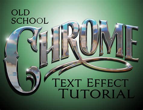 photoshop words chrome tutorial episode 10 chrome text effect photoshop tutorial