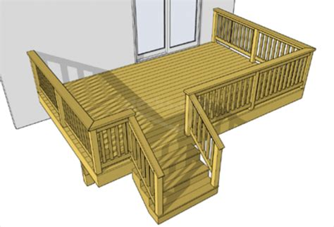 free deck building plans designed for your house free deck