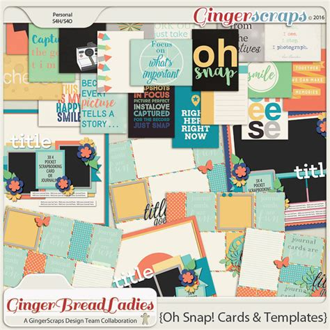 snap card templates gingerscraps collabs and duos gingerbread