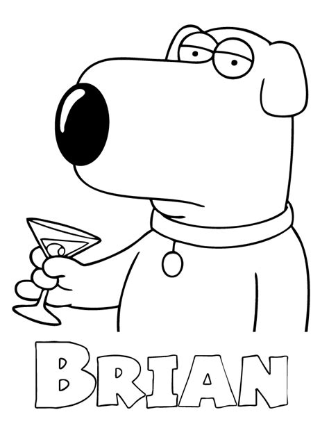coloring pages for family guy family guy printable coloring pages coloring home