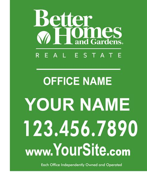 better homes garden signs banners custom design