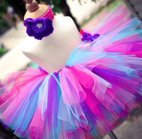 Set Tutu Setelan Tutu Anak purple pink and blue tutu set baby tutu and toddler tutu
