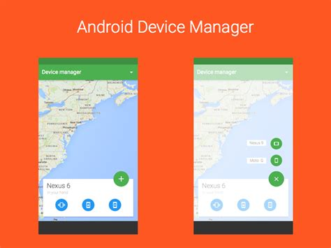 android divice manager android device manager concept uplabs