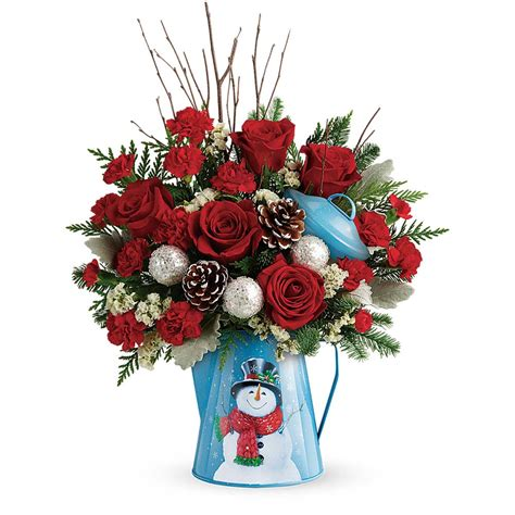 snowy blossoms holiday pick set snowy daydreams bouquet kremp