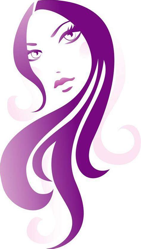 grophis hair girl with long hair illustration suitable for hair salon