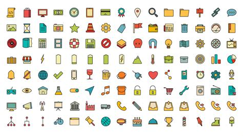 Icon Set by 40 Sets Of Free Icons Creative Bloq
