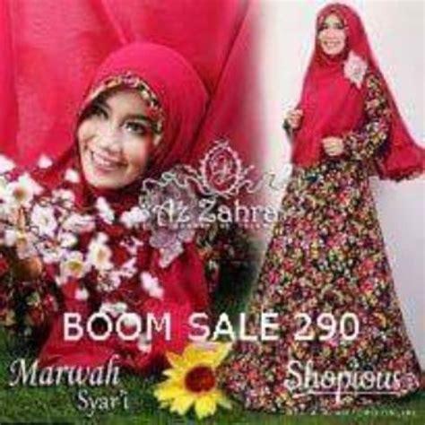 Baju Terbaru Marwah Set By Az Zahra gamis batik syar i modern murah terbaru marwah by azzahra