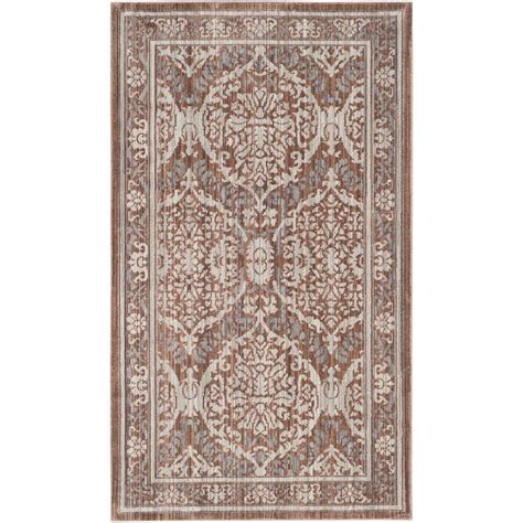 Brown And Gray Area Rug Safavieh Valencia Grey Brown 3 Ft X 5 Ft Area Rug Val208e 3 The Home Depot