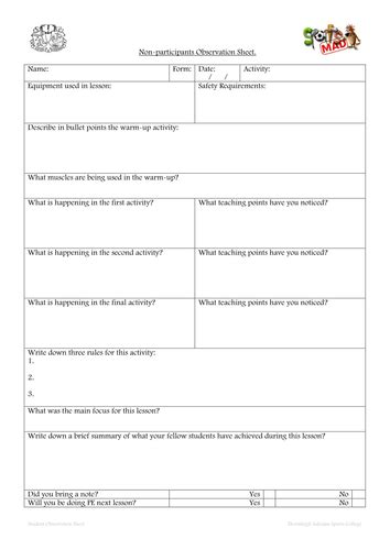 Pe Worksheets by Gary Whiting S Abc Of Ict Shop Teaching Resources Tes