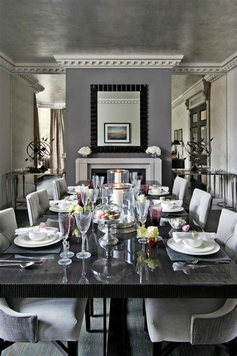 Dining Room With Mirror On The Wall by Mirrors For Dining Rooms Dining Room Transitional With