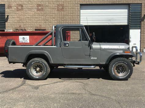 jeep scrambler hardtop 81 jeep cj8 cj 8 scrambler truck 4x4 60k pickup stock runs