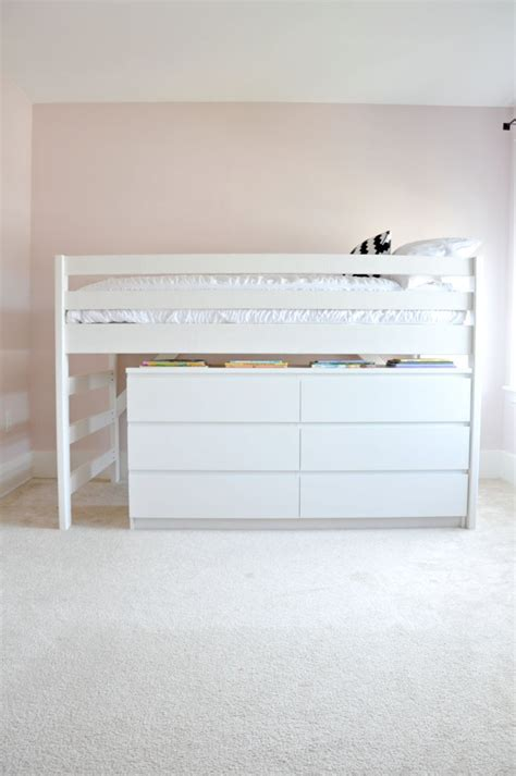 diy ikea loft bed diy junior loft bed with ikea malm dresser underneath