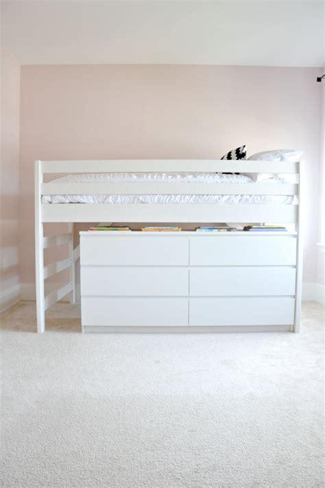 junior loft bed ikea diy junior loft bed with ikea malm dresser underneath