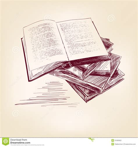 libro sketch your world drawing vintage old books hand drawn stock vector image 31093922