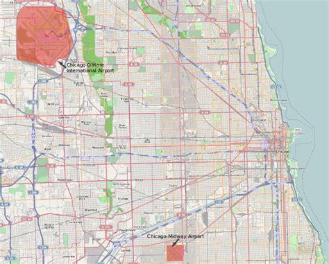 chicago map airports file map situation of chicago airports svg