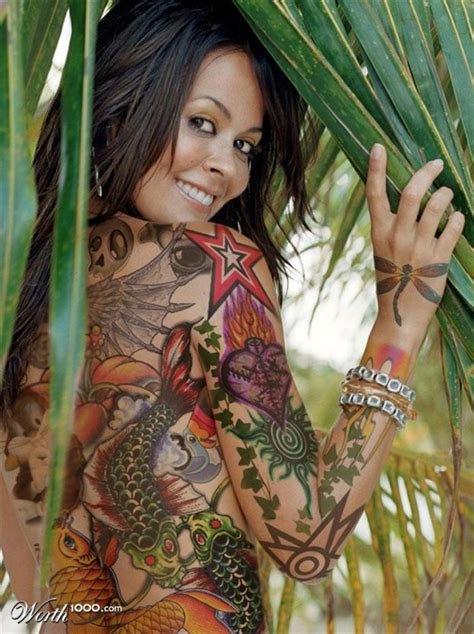 celebrities  full body tattoos  pics