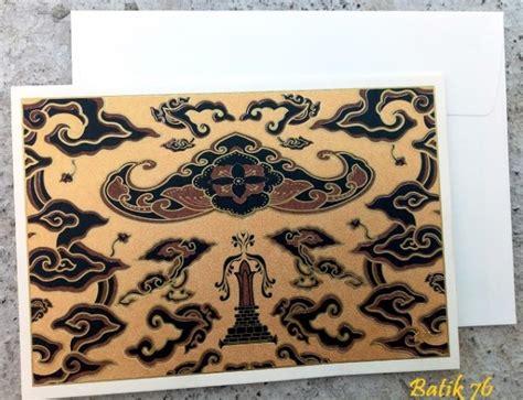 Jual Kartu Ucapan Handmade Sizemedium Motif Batik Gold 1box Jual Kartu Ucapan Handmade Motif Wahyu Tumurun Gold Size
