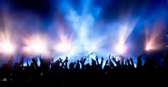 Psychedelic Wall Murals crowd at concert wallpaper wall decor