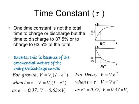 how many time constants to charge a capacitor capacitors