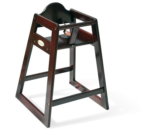 foundations 4501859 wood high chair antique cherry
