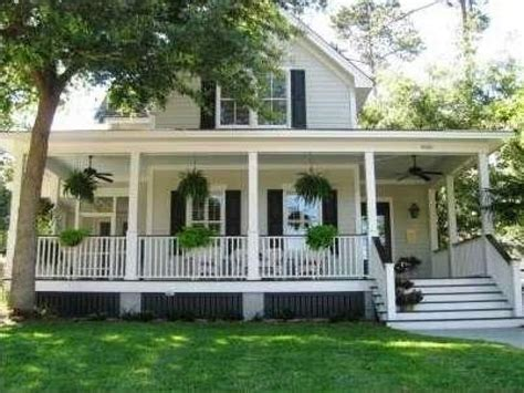 wraparound porch southern country style homes southern style house with
