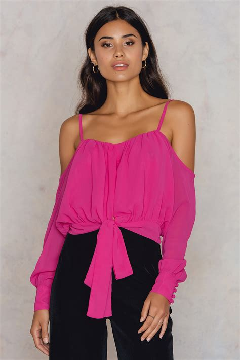 Embroidery Top Pink embroidery knot top pink na kd