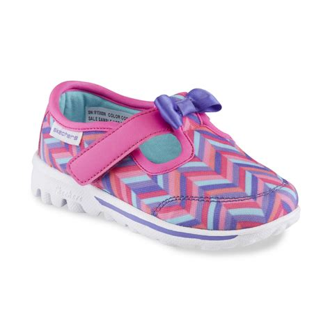 skechers toddler shoes skechers toddler s gowalk bow steps pink chevron