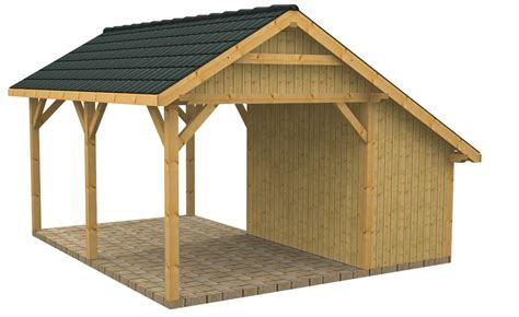 Carport Plans With Storage by Wood Carports With Storage Sc25vis Nr2b Bunk House
