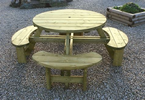 round bench seat round table and bench seat 194cm hillsborough fencing co ltd