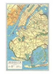 Map Of Brooklyn New York by Map Of Brooklyn New York Art Print At Art Com