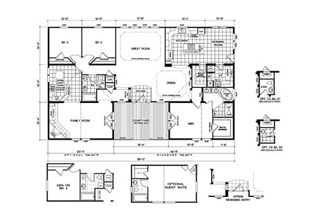 wide mobile home floor plans 5 bedroom 3