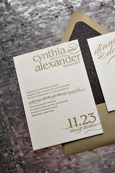 black and gold glitter wedding invitations black tie wedding invitations black and gold glitter