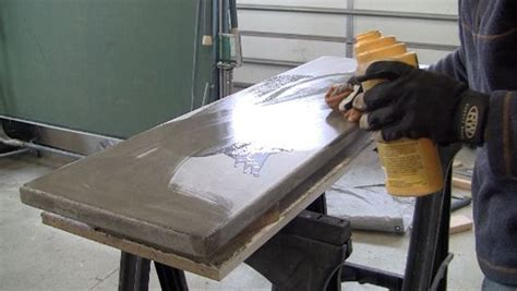 bar top sealer how to make a concrete table apply sealer to concrete