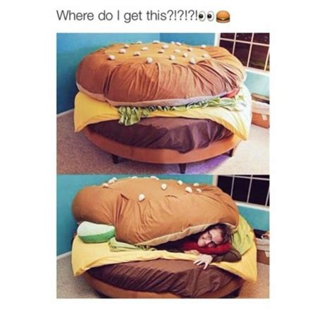 food bed home accessory hamburger food bedding chair room